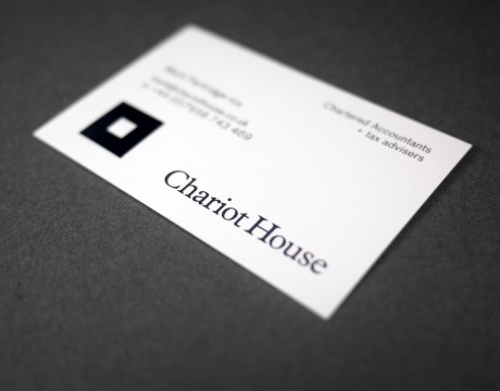 Chariot House: identity and stationery